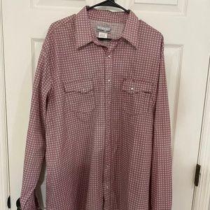 Men's Wrangler Wrancher Pearl Snap Shirt 2XLT